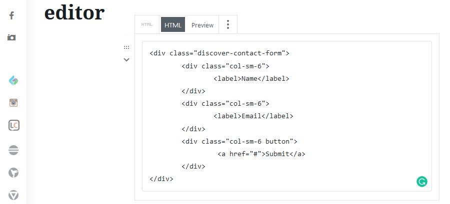 HTML block on Gutenberg editor