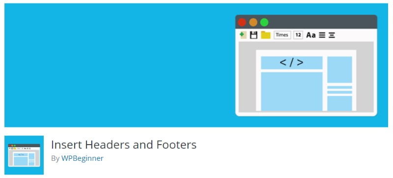 Insert Headers and Footers plugin for wordpress