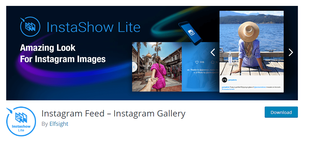 Instagram Feed Instagram Gallery plugin