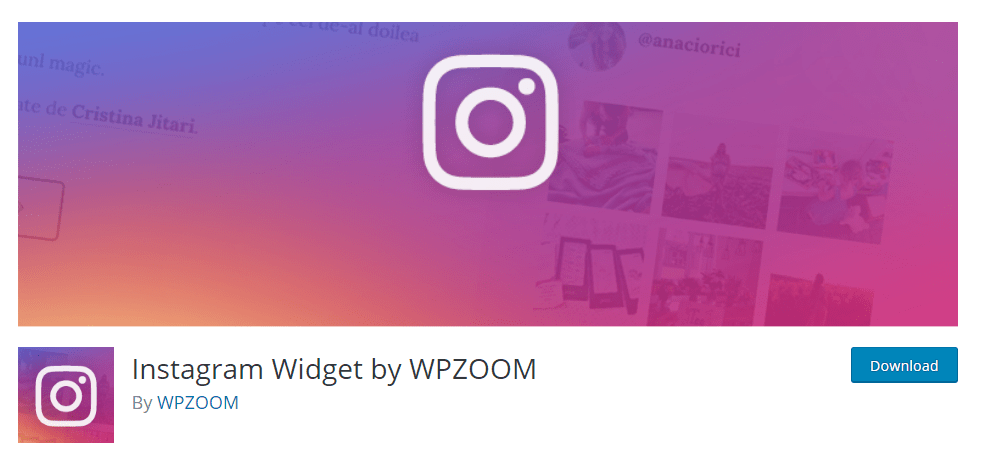 Instagram Widget wordpress instagram plugin by WPZOOM