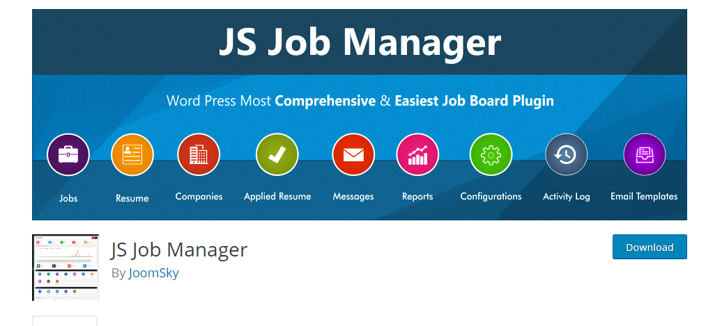 JS Job Manager plugin for wordpress