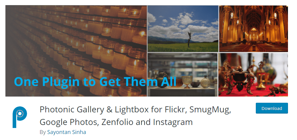 Photonic Gallery Lightbox for Flickr, SmugMug, Google Photos, Zenfolio, and Instagram plugin