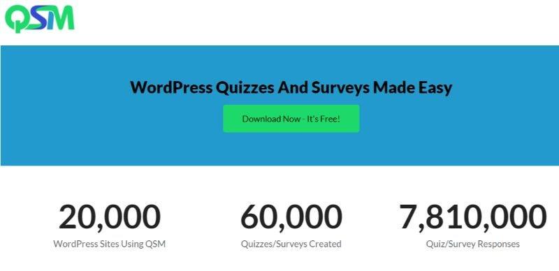 QSM wordpress survey plugin