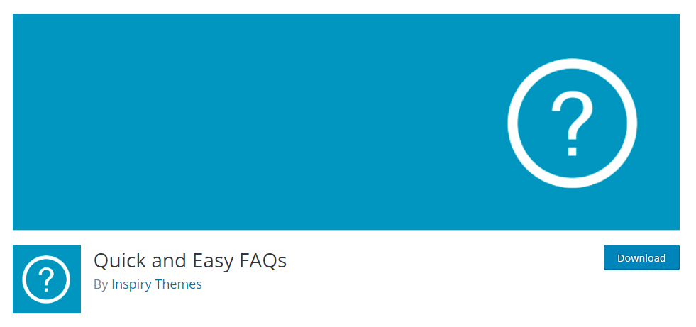 Quick and Easy FAQs plugin for wordpress