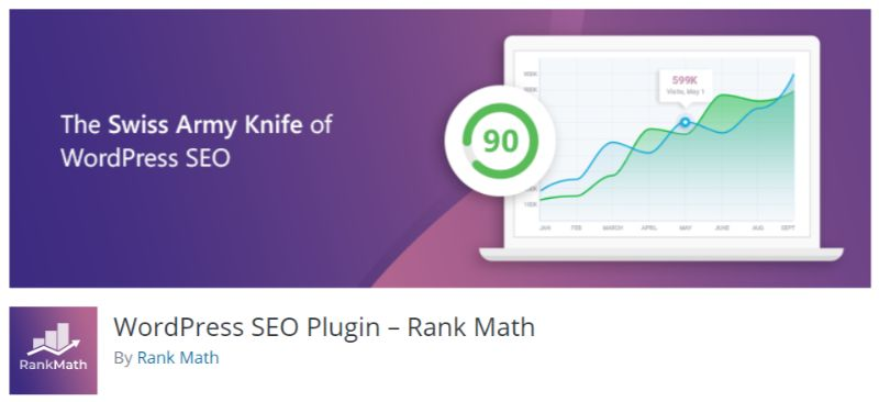 Rank Math SEO plugin for WordPress