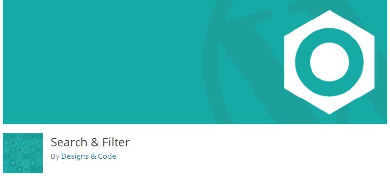 Search Filter plugin for WordPress