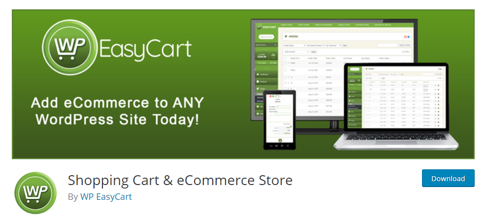 Shopping Cart and eCommerce Store plugin for wordpress