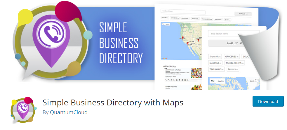 Simple Business Directory With Maps