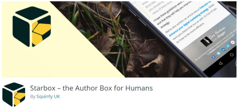 Starbox wordpress author box plugin