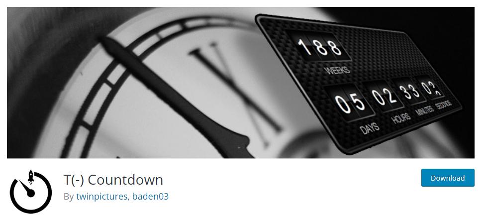 T (-) Countdown wordpress plugin