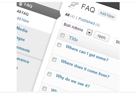 WP Awesome FAQ Plugin design