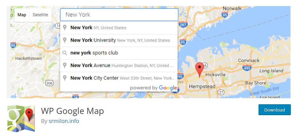 WP Google Map plugin in WordPress