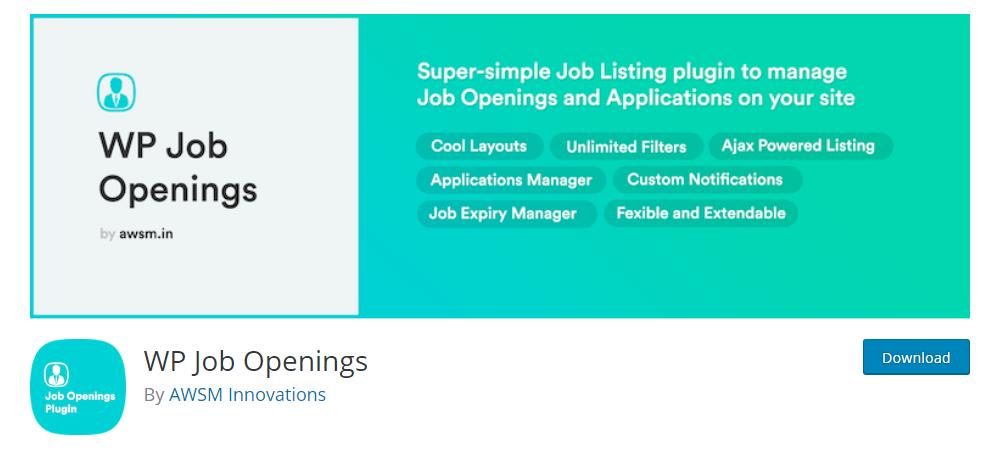 WP Job Openings plugin