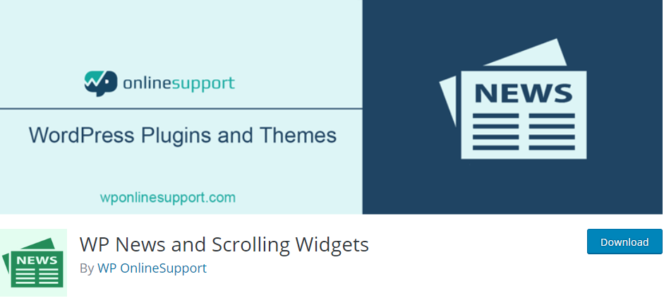 WP News and Scrolling Widgets plugin for WordPress