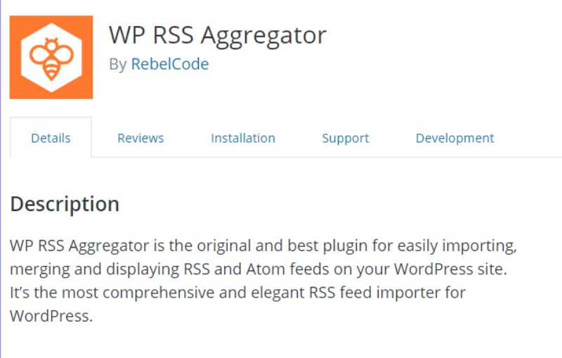 WP RSS Aggregator plugin in wordpress