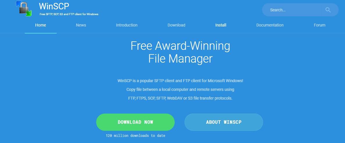 WinSCP FTP client
