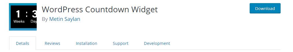 WordPress Countdown Widget plugin