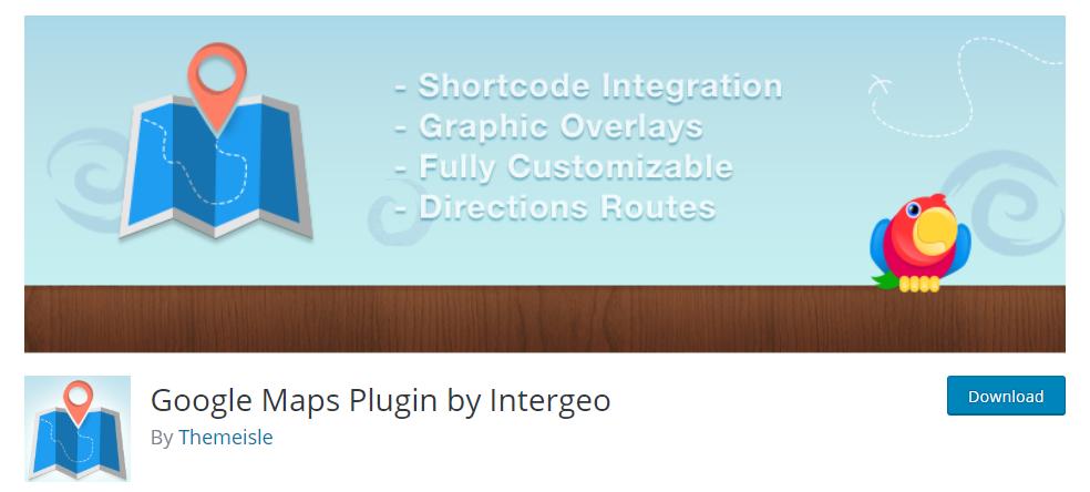 WordPress Google Maps Plugin By Intergeo