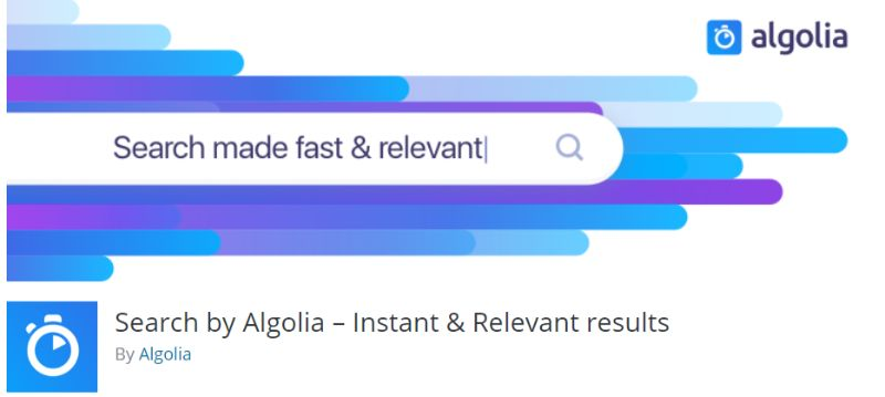 WordPress Search plugin by Algolia