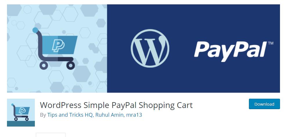 WordPress Simple PayPal Shopping Cart WordPress eCommerce plugin