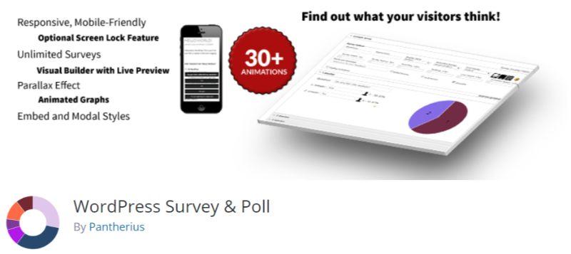 WordPress Survey Poll plugin