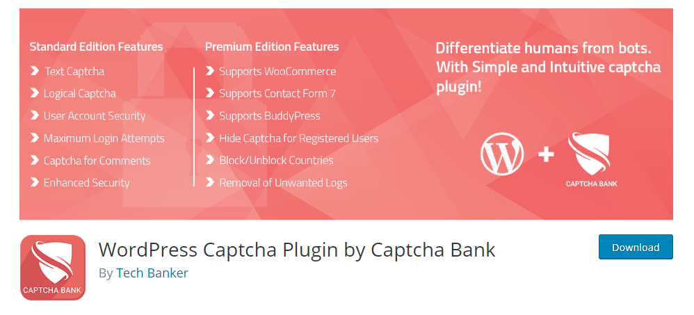 Wordpress Captcha Plugin By Captcha Bank