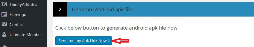 Generate android apk file