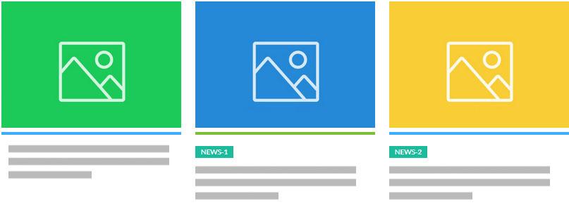 display news in grid type 3