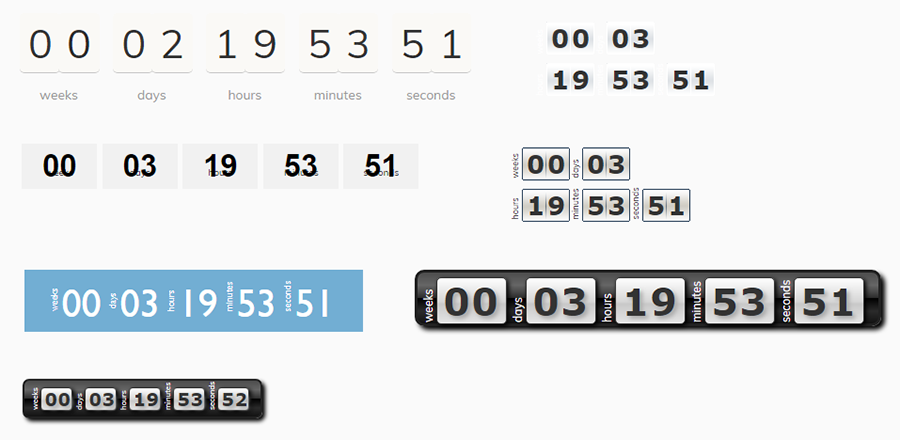graphical styles in T(-) Countdown plugin