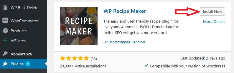 install wp recipe maker