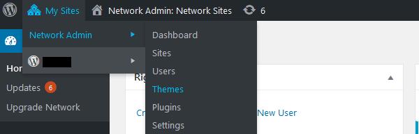 Network site admin