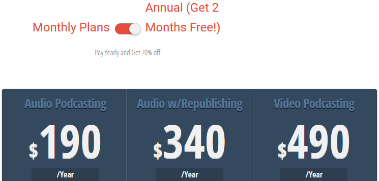 Podcasting pricing