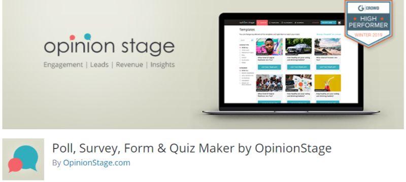 WordPress survey plugin by OpinionStage