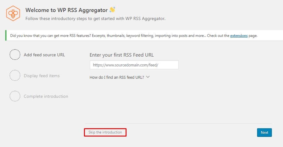 Setting up WP RSS Aggregator plugin