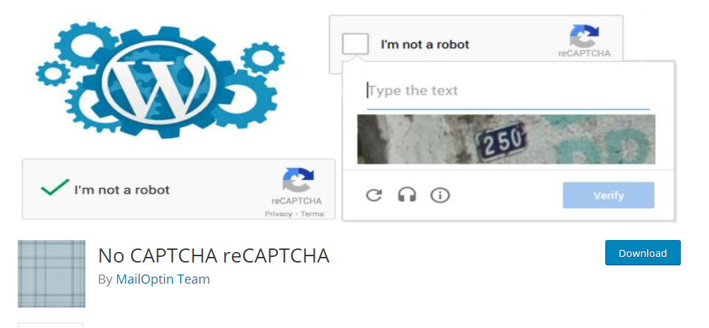 wordpress captcha plugin No CAPTCHA reCAPTCHA by MailOptin Team