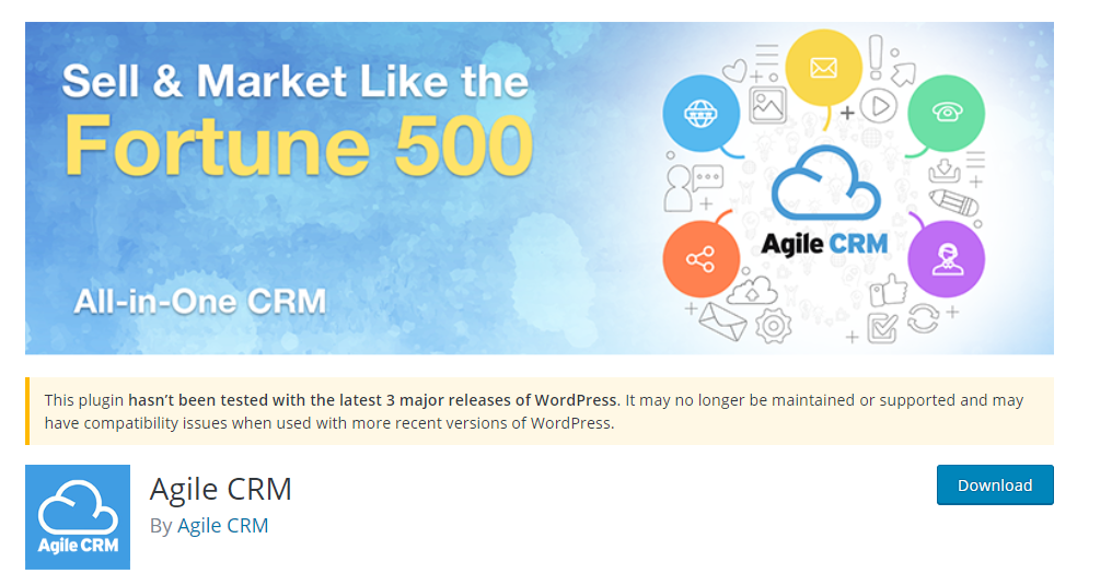 Agile CRM WP plugin