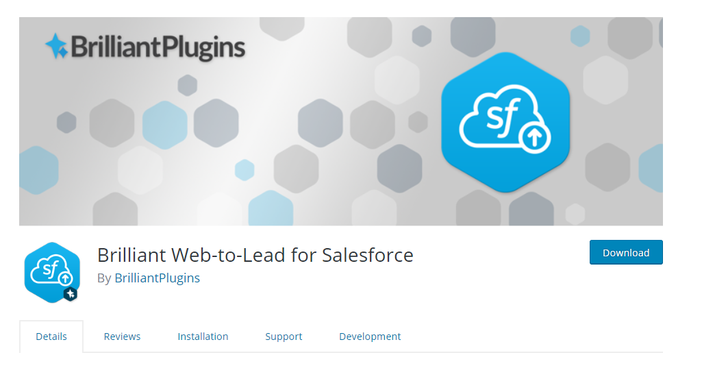 Brilliant Web To Lead For Salesforce plugin