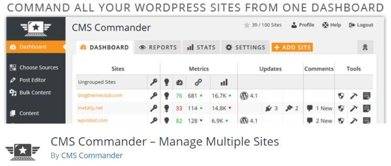 CMS Commander WordPress Multisite Management Plugin