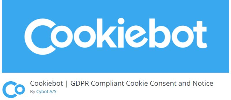 CookieBot WordPress GDPR plugin