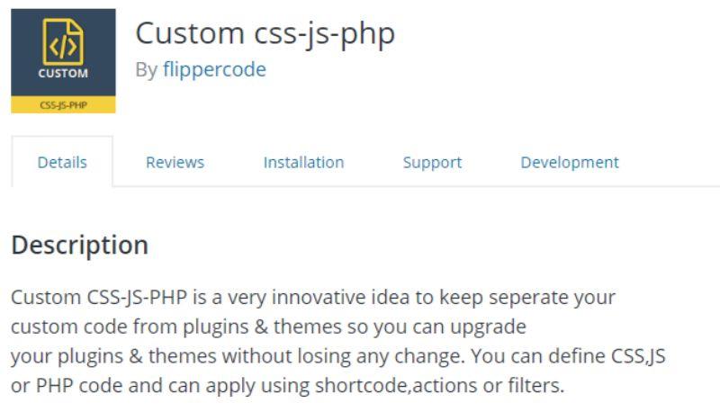 Custom CSS-JS-PHP plugin