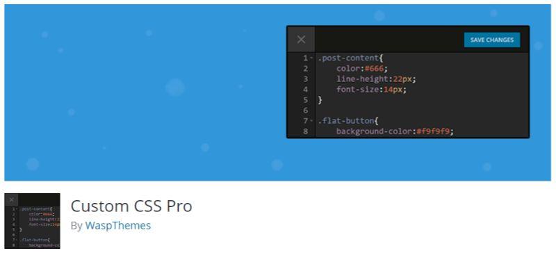 Custom CSS Pro plugin