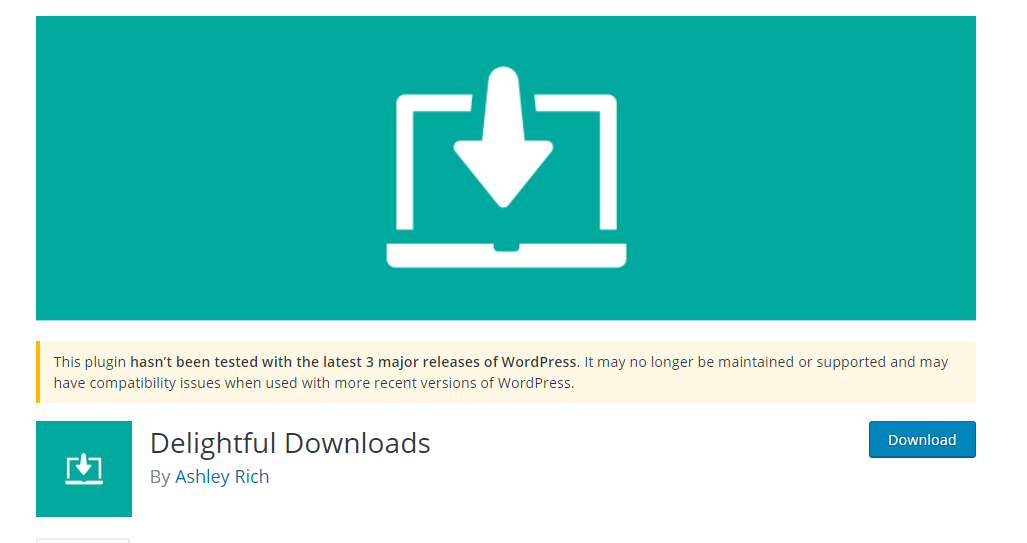 Delightful Downloads plugin