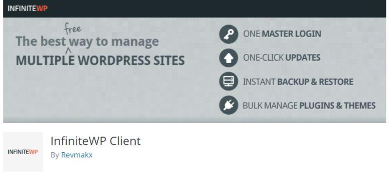 InfiniteWP Client WordPress Multisite Management Plugin