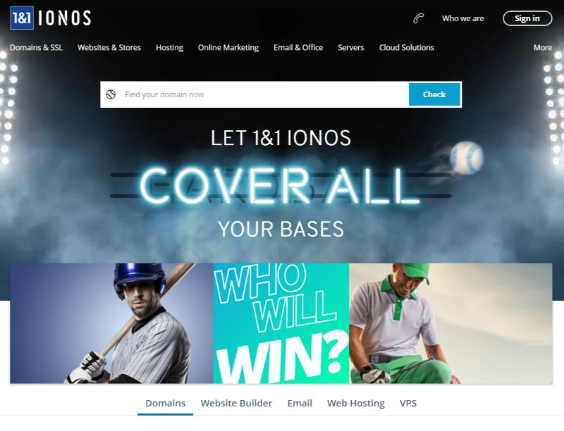 Ionos domains
