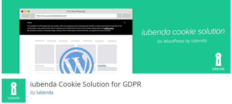 Iubenda Cookie Solution for GDPR