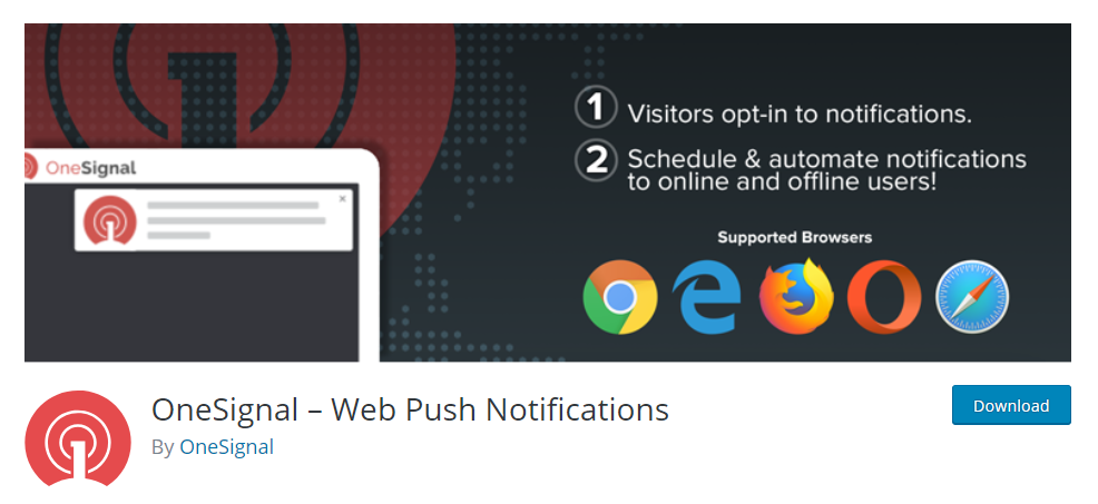OneSignal Web Push Notification plugin