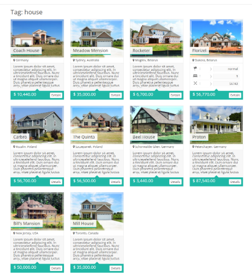 Real Estate Manager property listing type