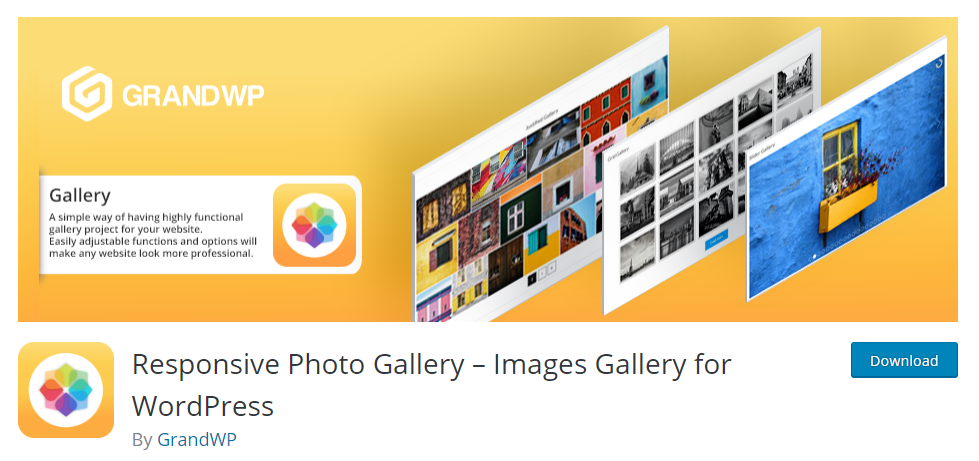 Responsive Photo Gallery Images Gallery for WordPress