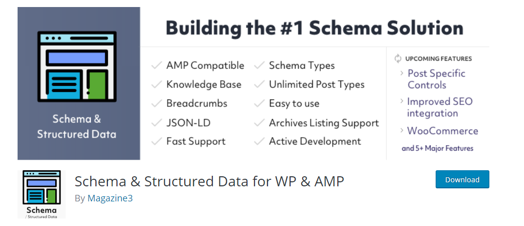 Schema and Structured Data for WP and AMP