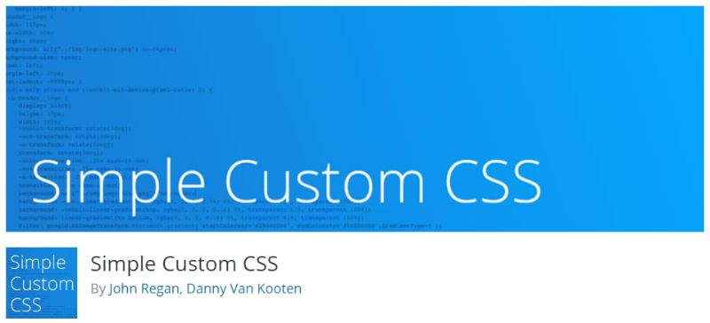 Simple Custom CSS wp plugin